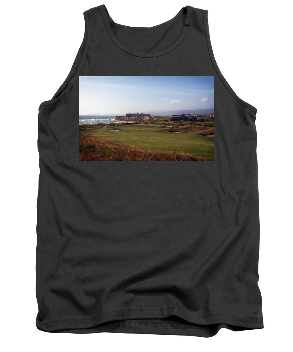 Golf Course Tank Top featuring the photograph Golf Course On Half Moon Bay by Mountain Dreams