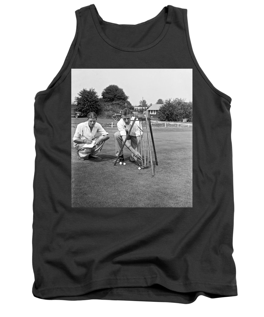 1920s Tank Top featuring the photograph Golf Green Experiments by Underwood Archives