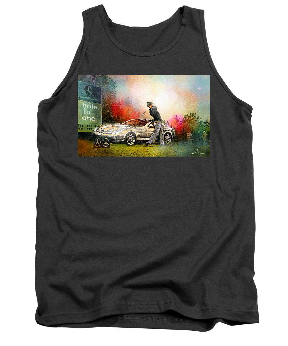 Golf Tank Top featuring the painting Golf In Gut Laerchehof Germany 03 by Miki De Goodaboom