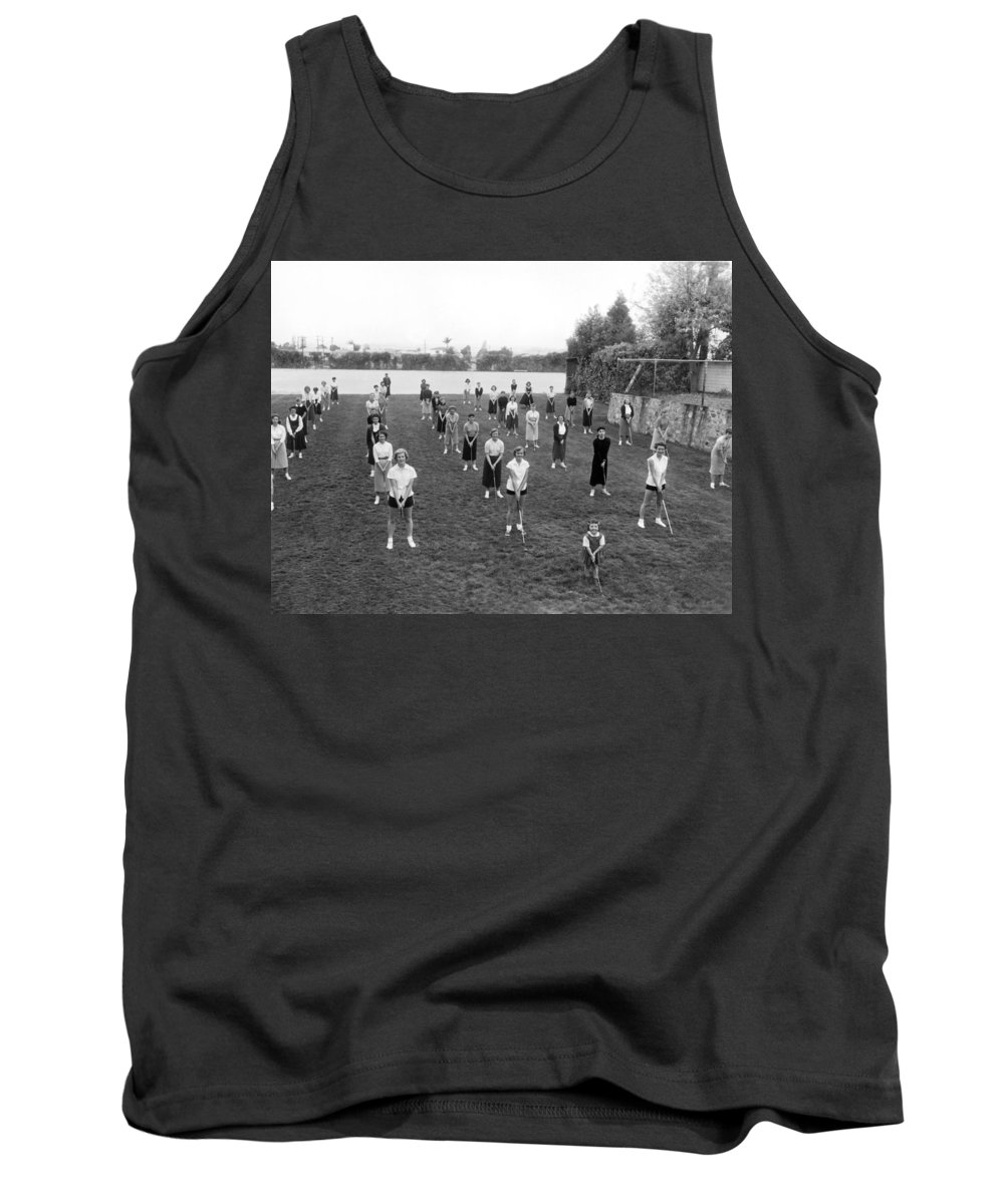1950s Tank Top featuring the photograph Golf Lessons For Women by Underwood Archives