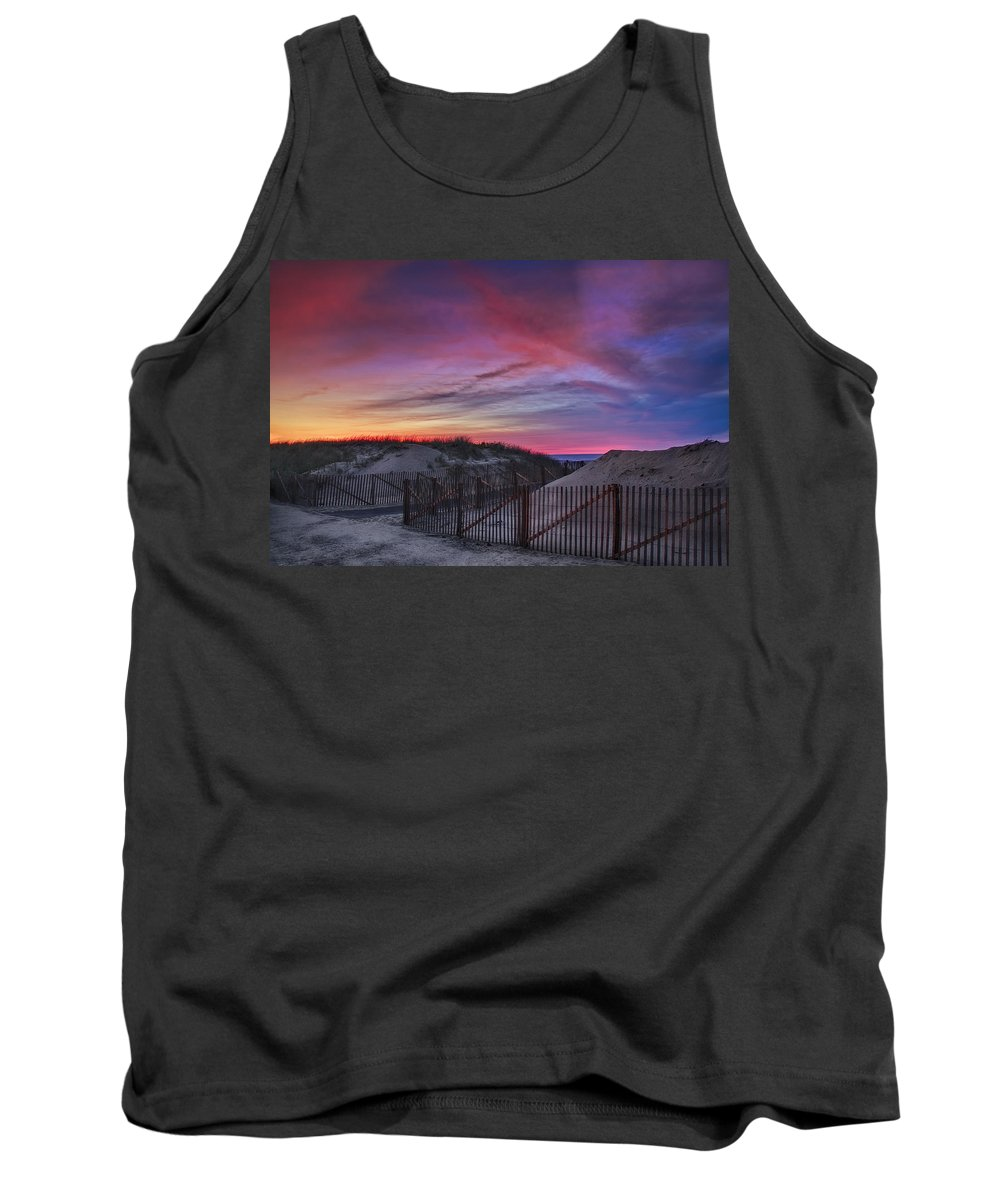 Scenic Tank Top featuring the photograph Good Night Cape Cod by Susan Candelario