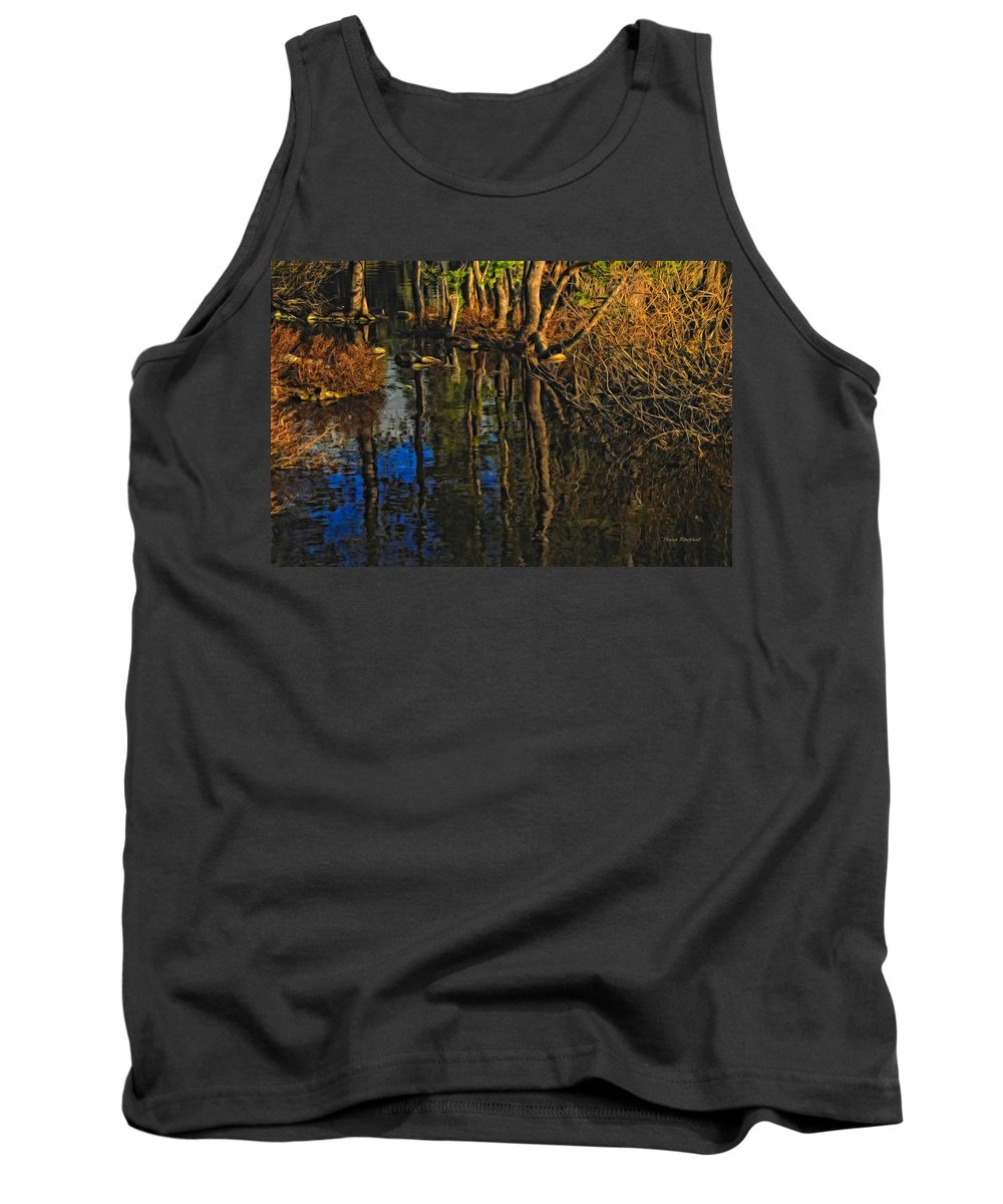 Water Tank Top featuring the photograph Goose Lake Autumn by Donna Blackhall