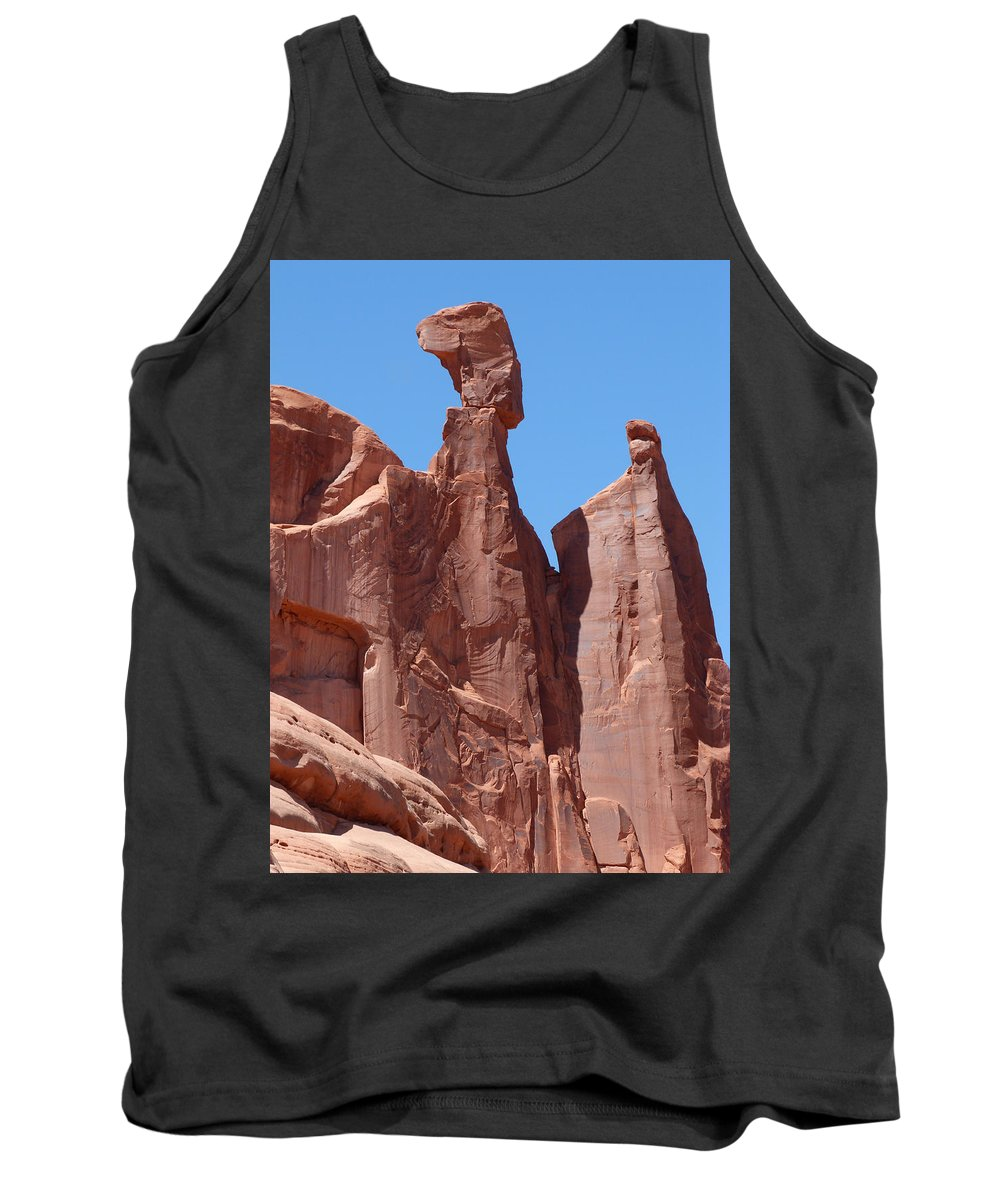 Rocks Tank Top featuring the photograph Gossips At Arches National Park by Susan Porter