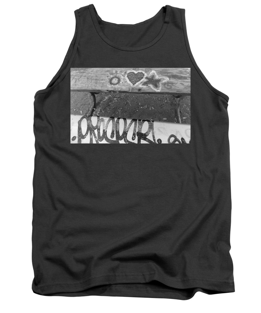 Graffiti Tank Top featuring the photograph Graffiti Table 2 by Brent Dolliver