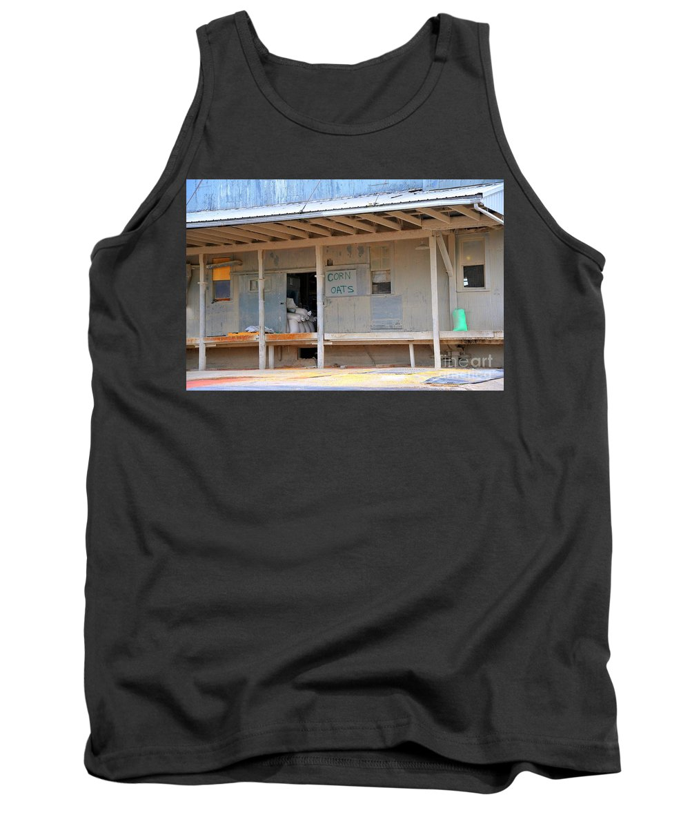 Americana Tank Top featuring the photograph Grain Elevator by Terri Gostola