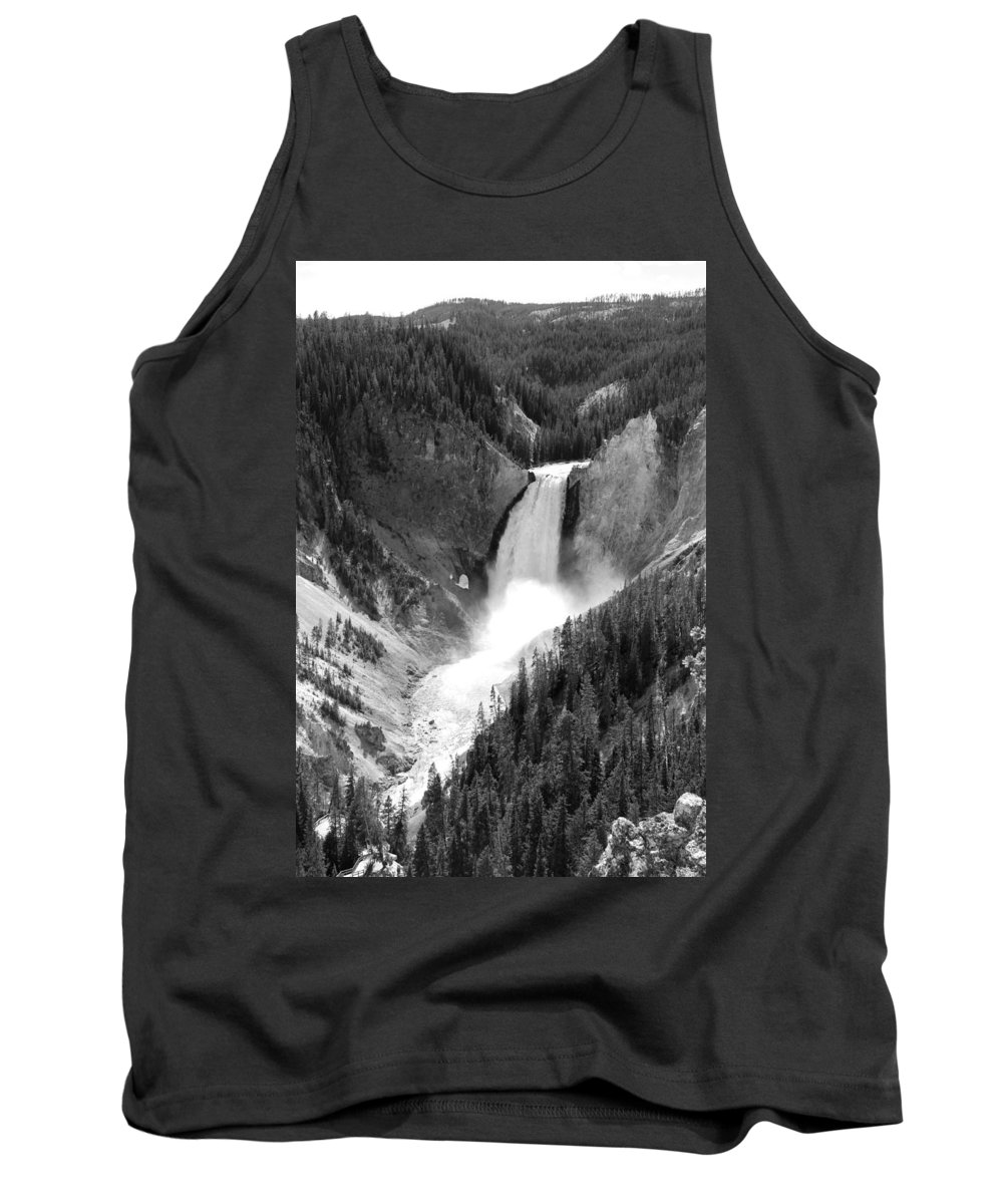 Lower Falls Tank Top featuring the photograph Grand Canyon Of The Yellowstone by Christiane Schulze Art And Photography