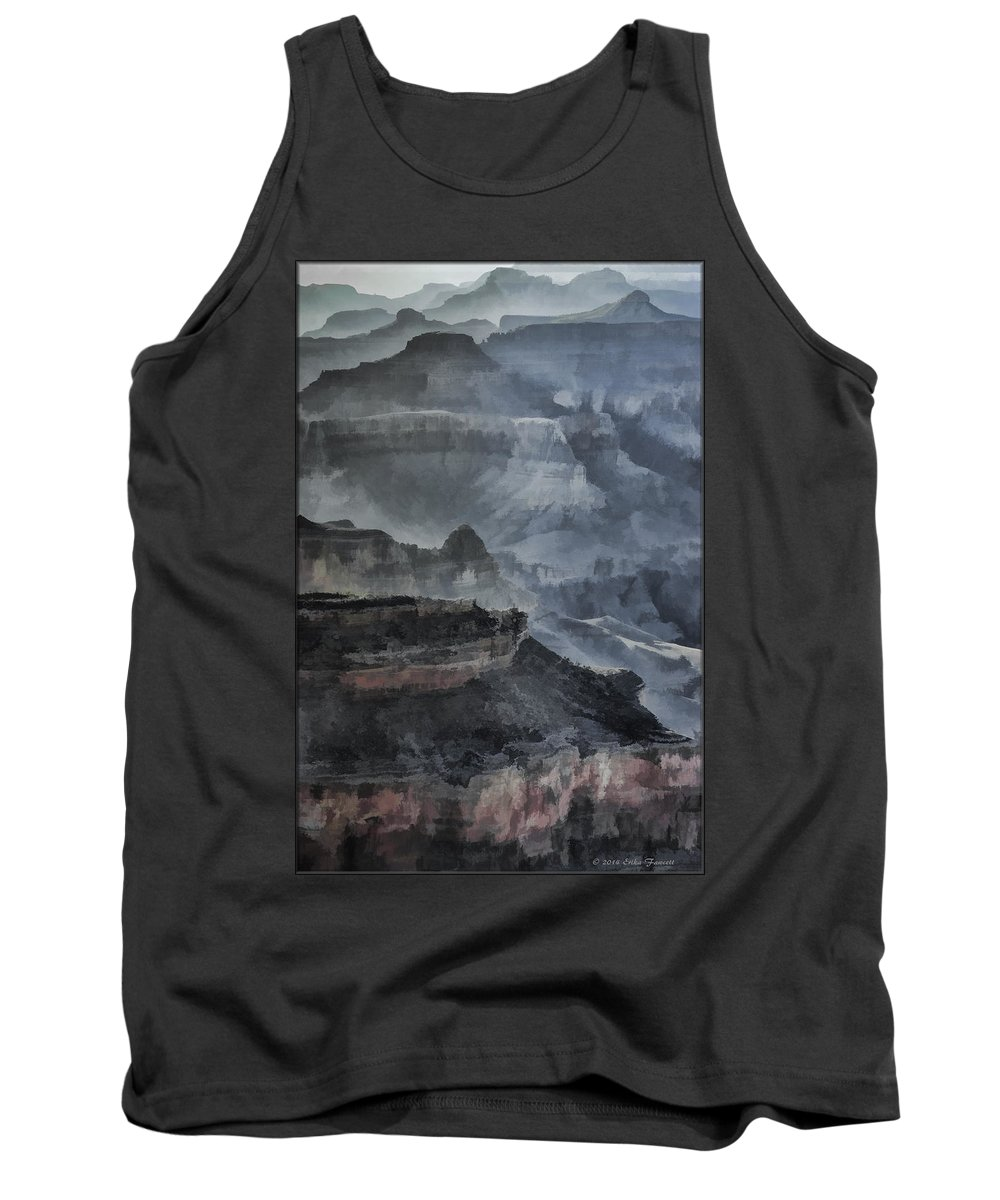 Grand Canyon Tank Top featuring the photograph Grand Canyon Watercolor by Erika Fawcett