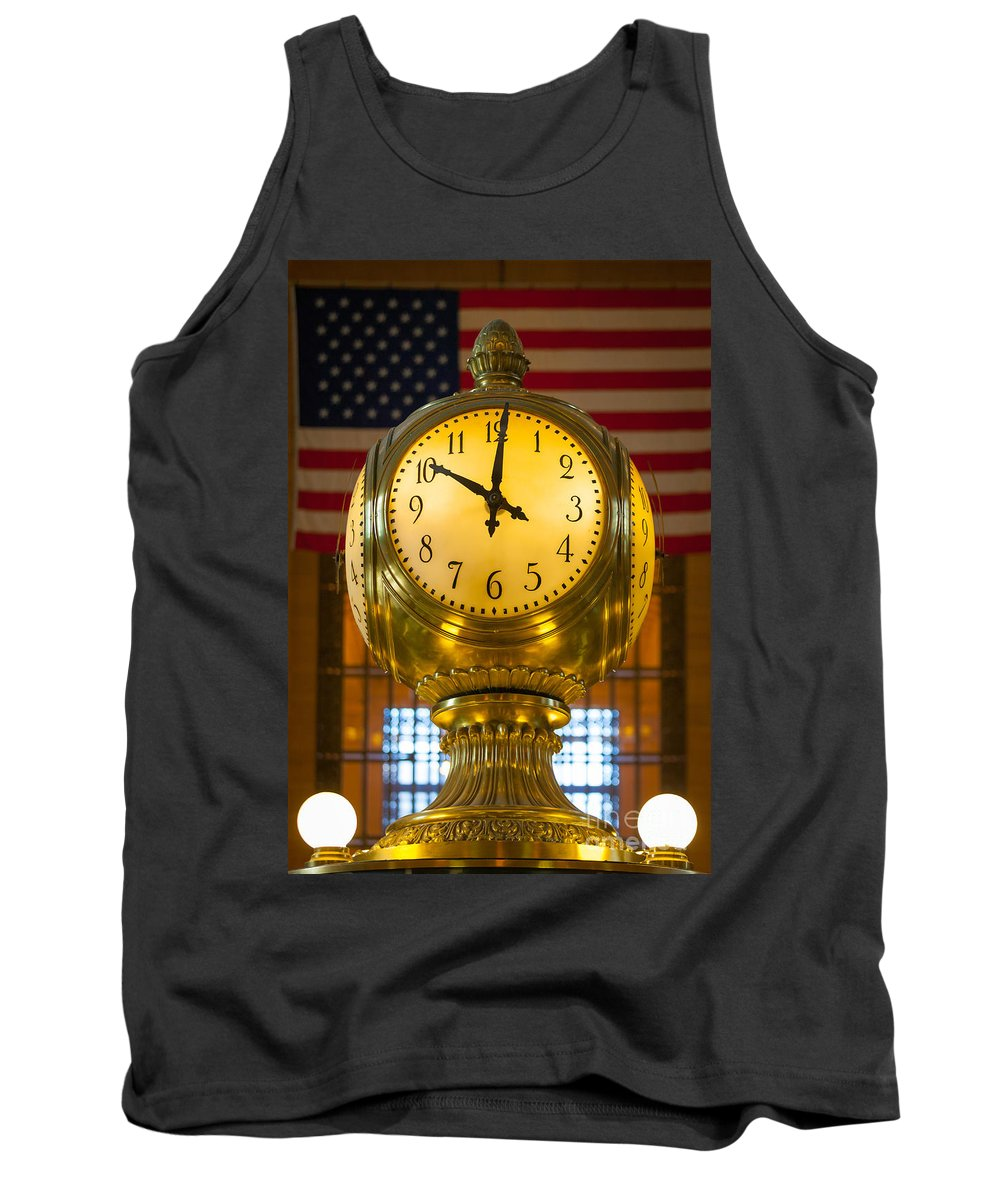 America Tank Top featuring the photograph Grand Central Clock by Inge Johnsson