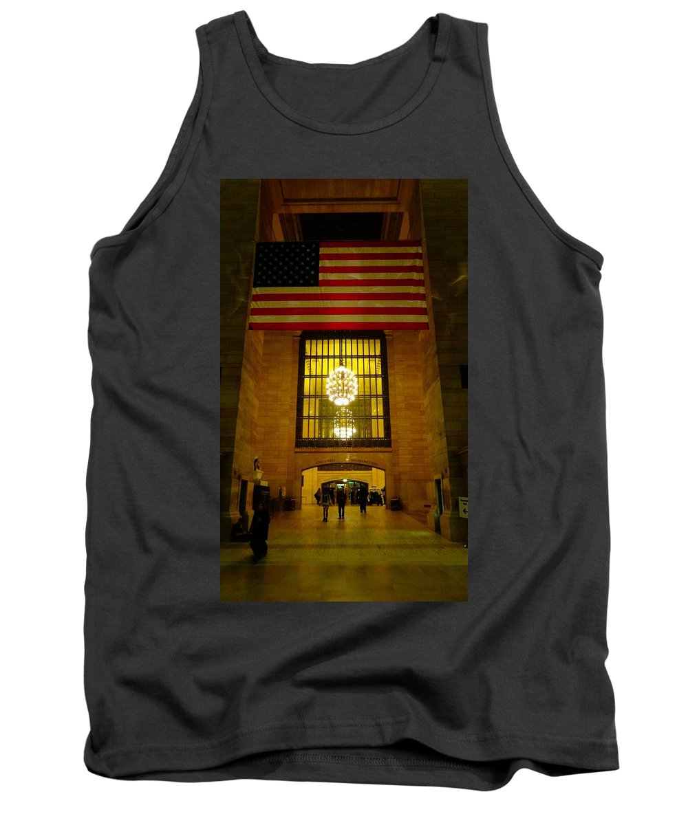 Grand Central Tank Top featuring the photograph Grand Central by Dan Sproul