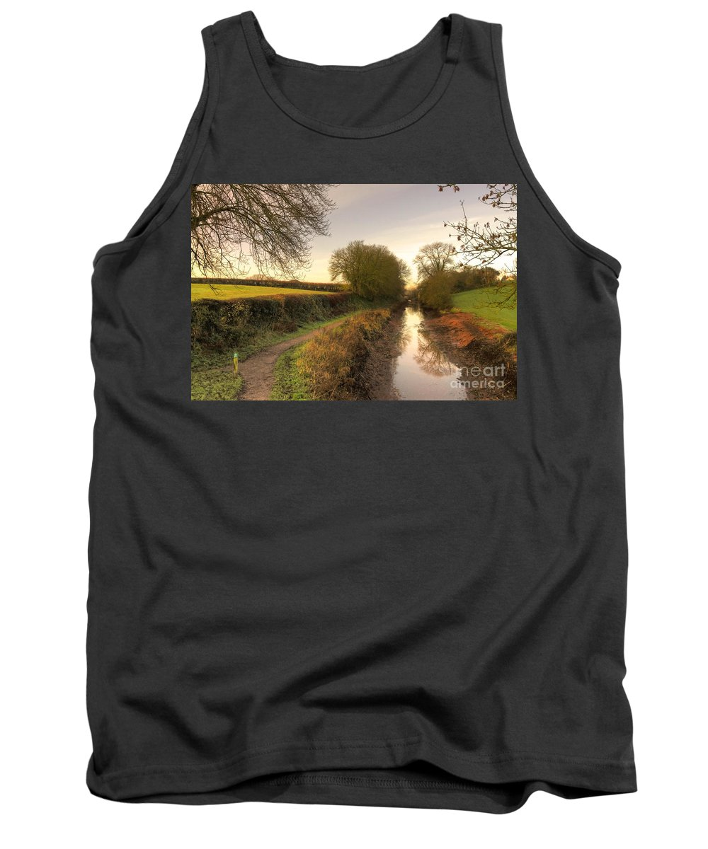 Grand Tank Top featuring the photograph Grand Western Canal At Halberton by Rob Hawkins