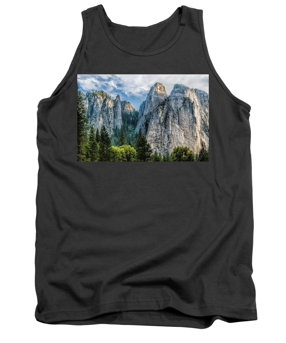 Yosemite National Park Tank Top featuring the photograph Sentinels by Maria Coulson