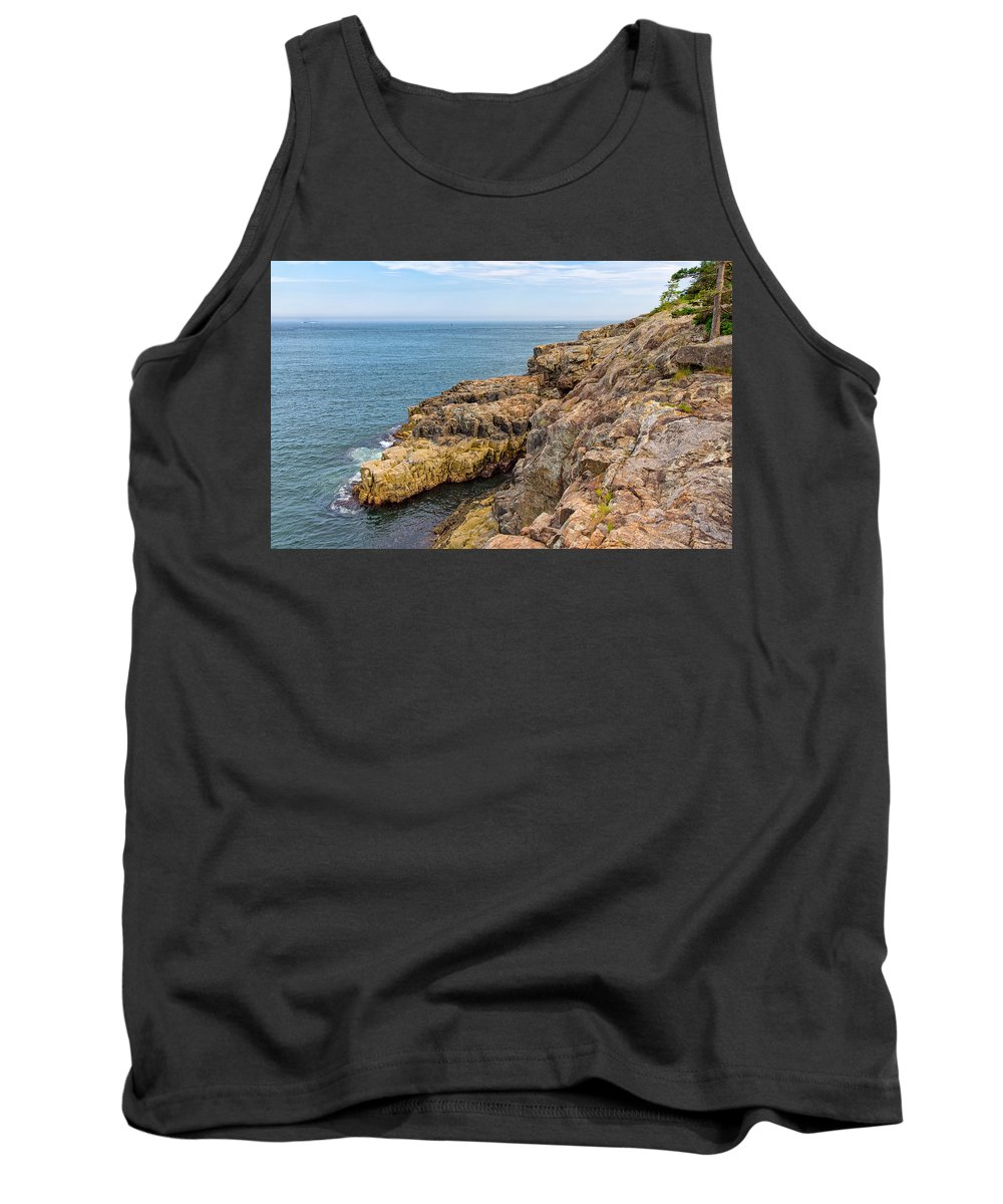 Sky Tank Top featuring the photograph Granite Shore by John M Bailey