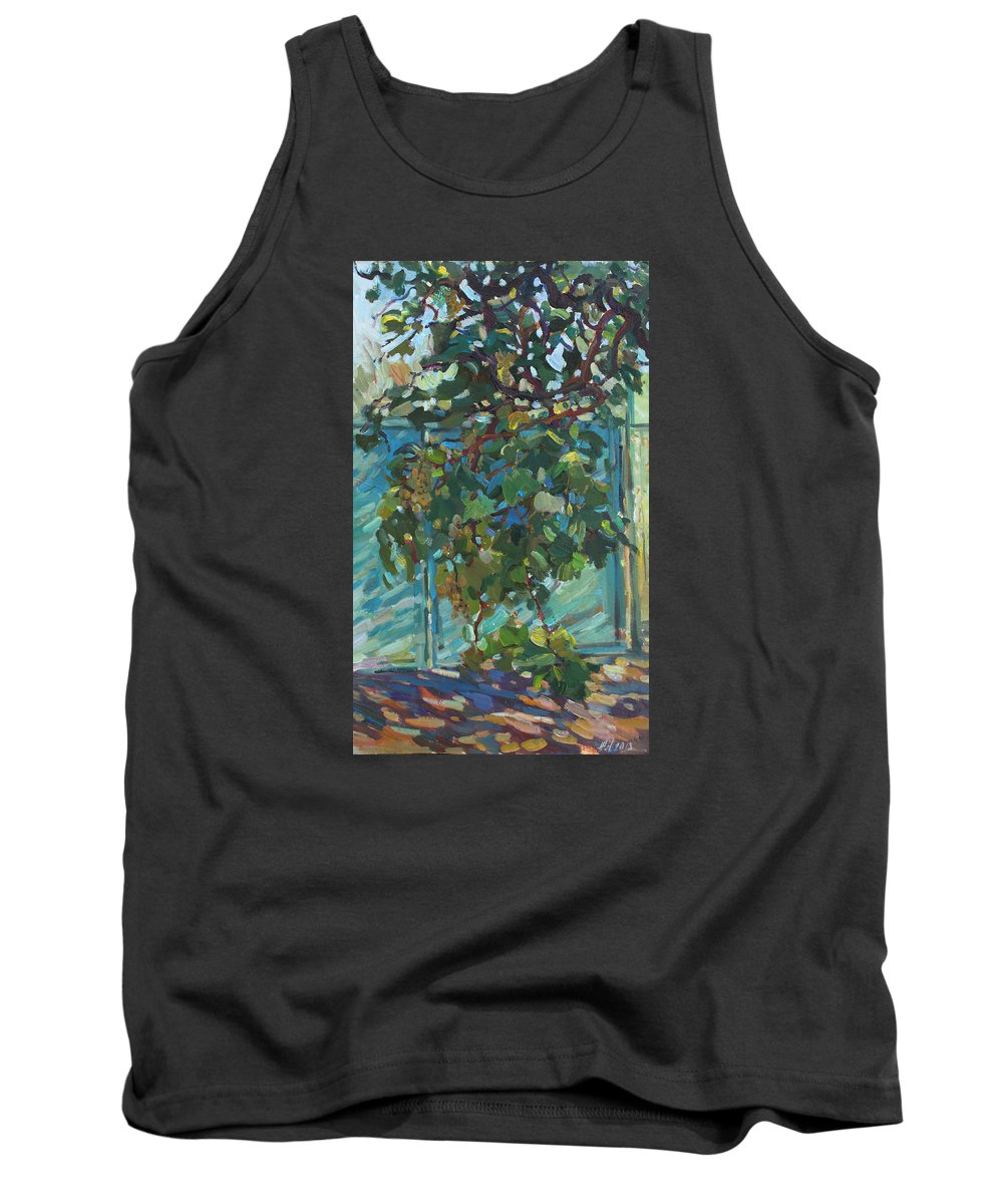 Grapes Tank Top featuring the painting Grapes by Juliya Zhukova