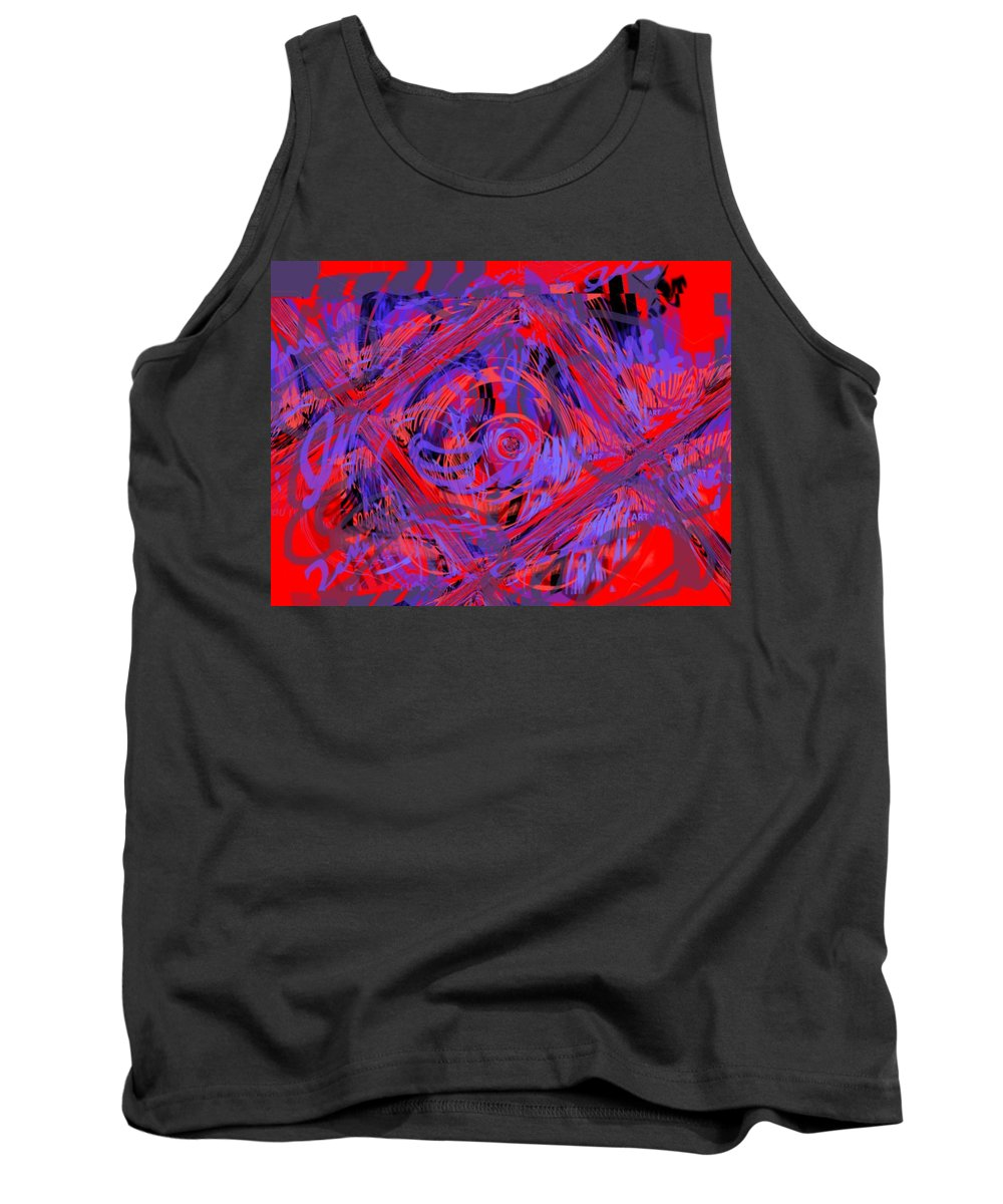 Graphic Art Tank Top featuring the digital art Graphic Explosion by Pharris Art