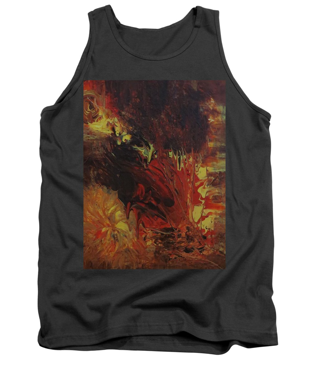 Abstract Tank Top featuring the painting Great Ball Of Fire by Soraya Silvestri