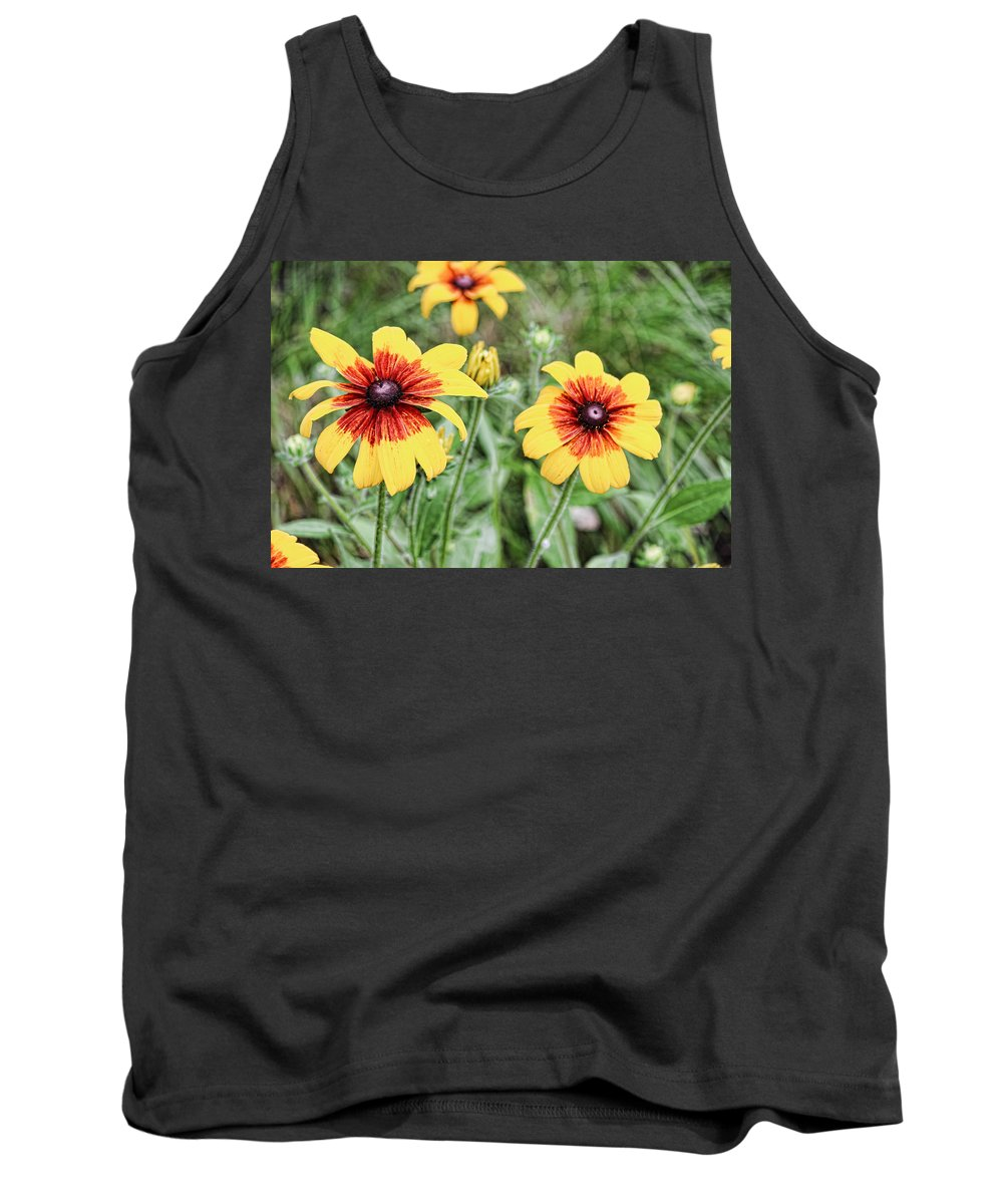 Great Blanket Flowert Tank Top featuring the photograph Great Blanket Flower Gaillardia by Cathy Anderson
