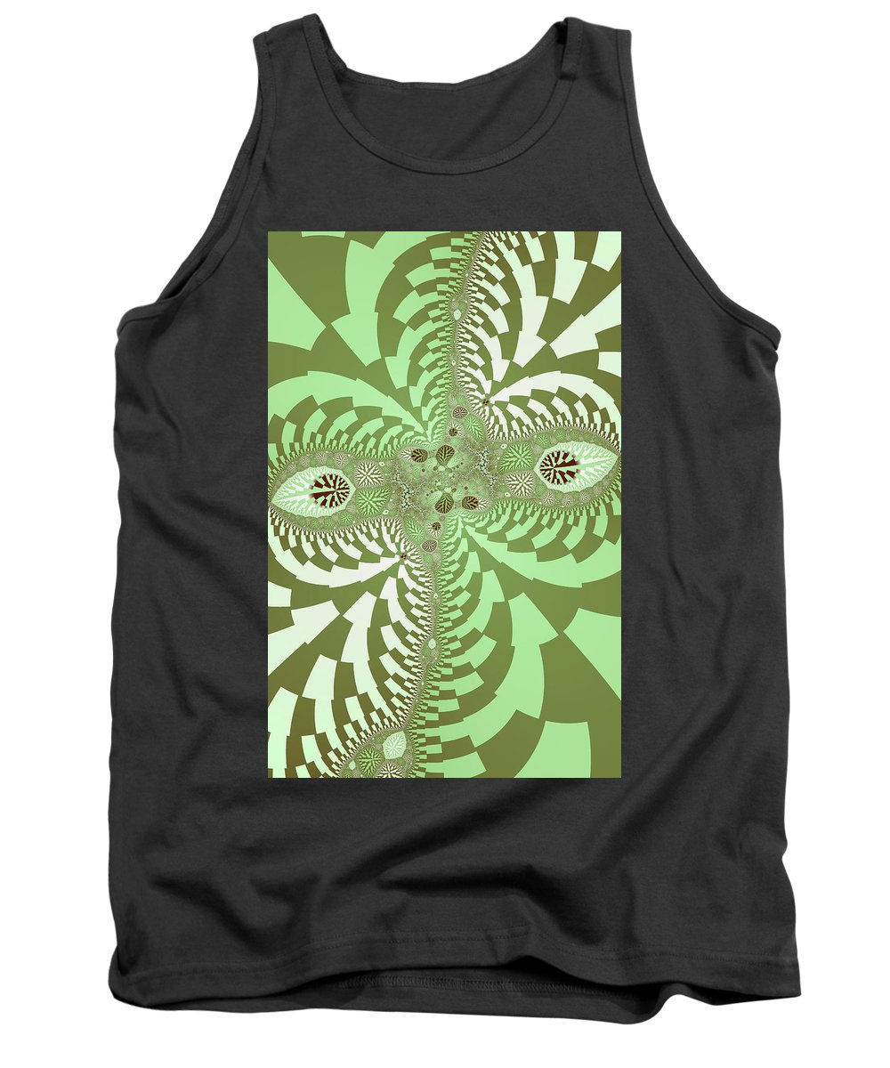 Abstract Tank Top featuring the photograph Green Abstract by Paul Sale Vern Hoffman