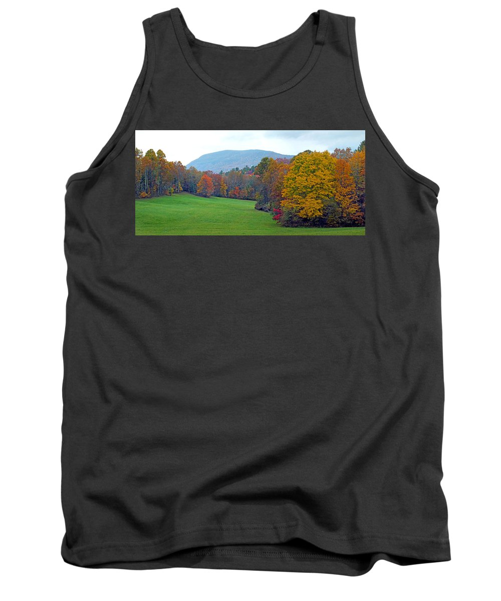 Duane Mccullough Tank Top featuring the photograph Green Field In The Fall by Duane McCullough