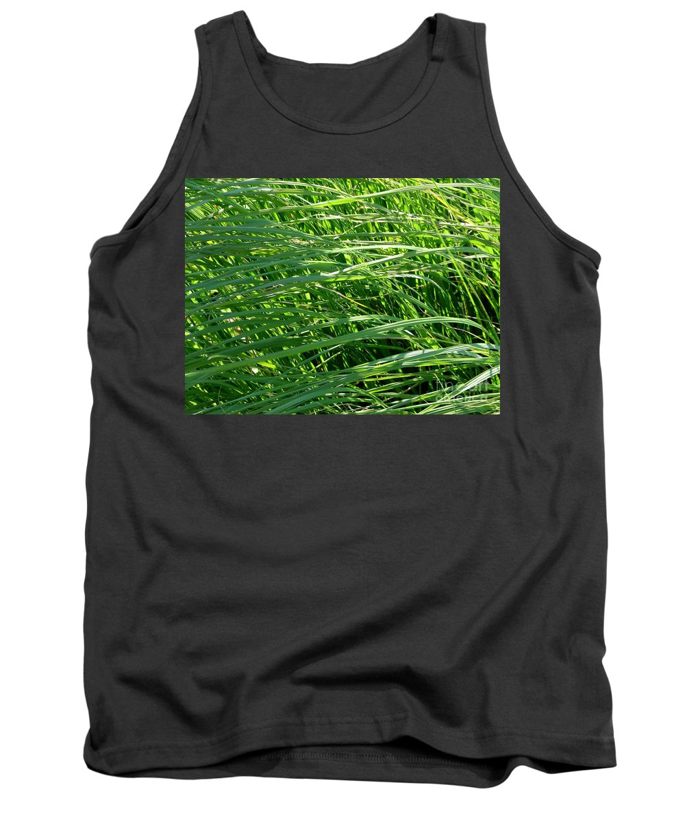 Grass Tank Top featuring the photograph Green Grass Growing by Rose Santuci-Sofranko