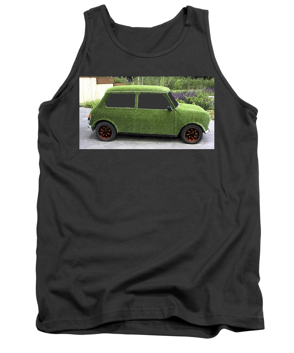 Mini Tank Top featuring the photograph Green Mini by Peter Lloyd