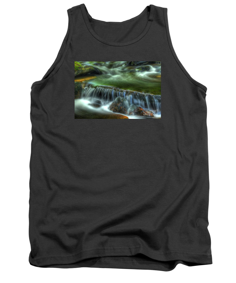 Ricketts Glen Tank Top featuring the photograph Green Waters by Paul W Faust - Impressions of Light