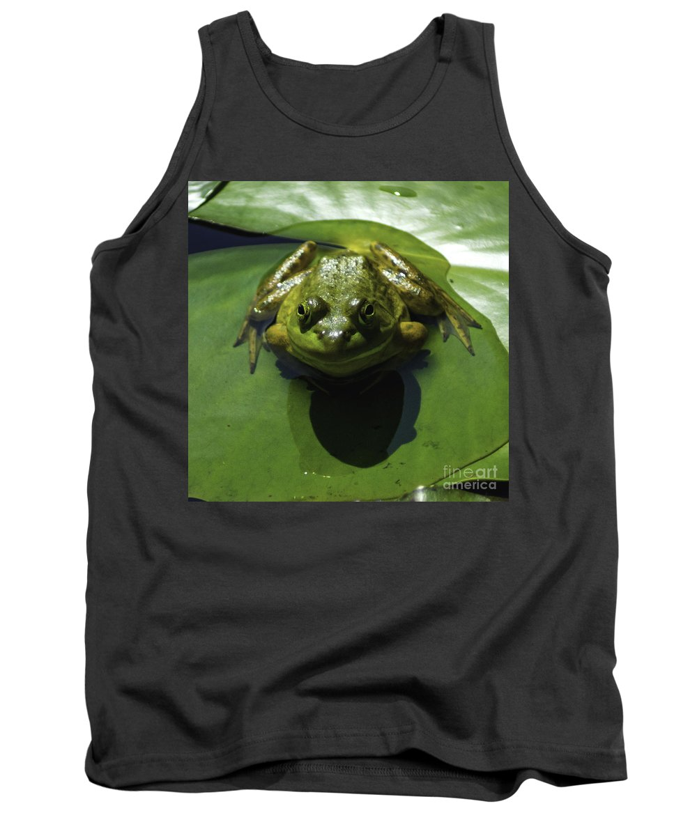 Frog Tank Top featuring the photograph Greenie by Joe Geraci