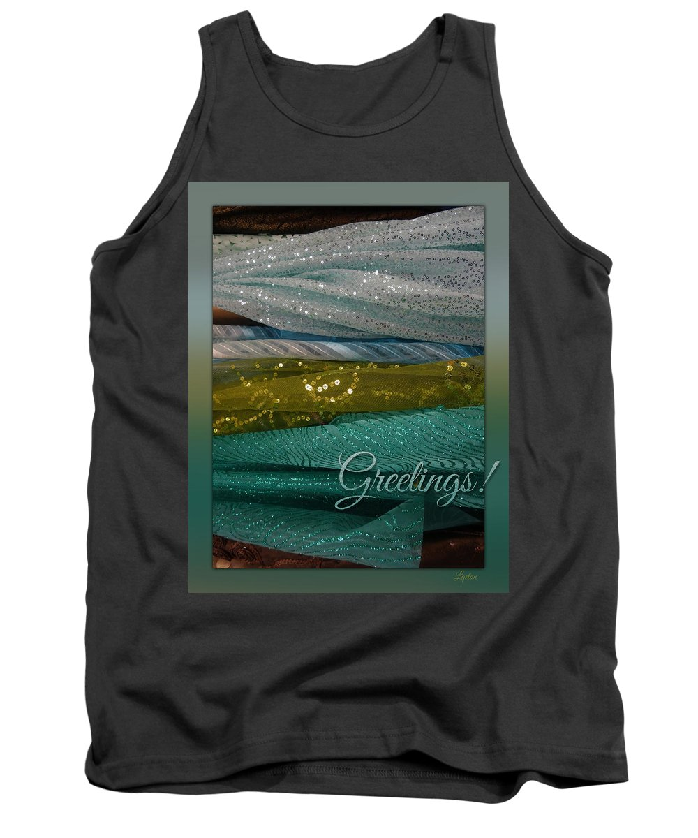 Festive Tank Top featuring the digital art Greetings by Richard Laeton