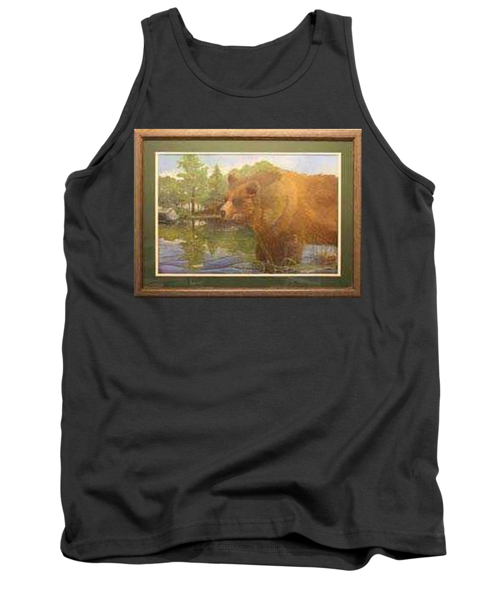 Rick Huotari Tank Top featuring the painting Grizzly by Rick Huotari