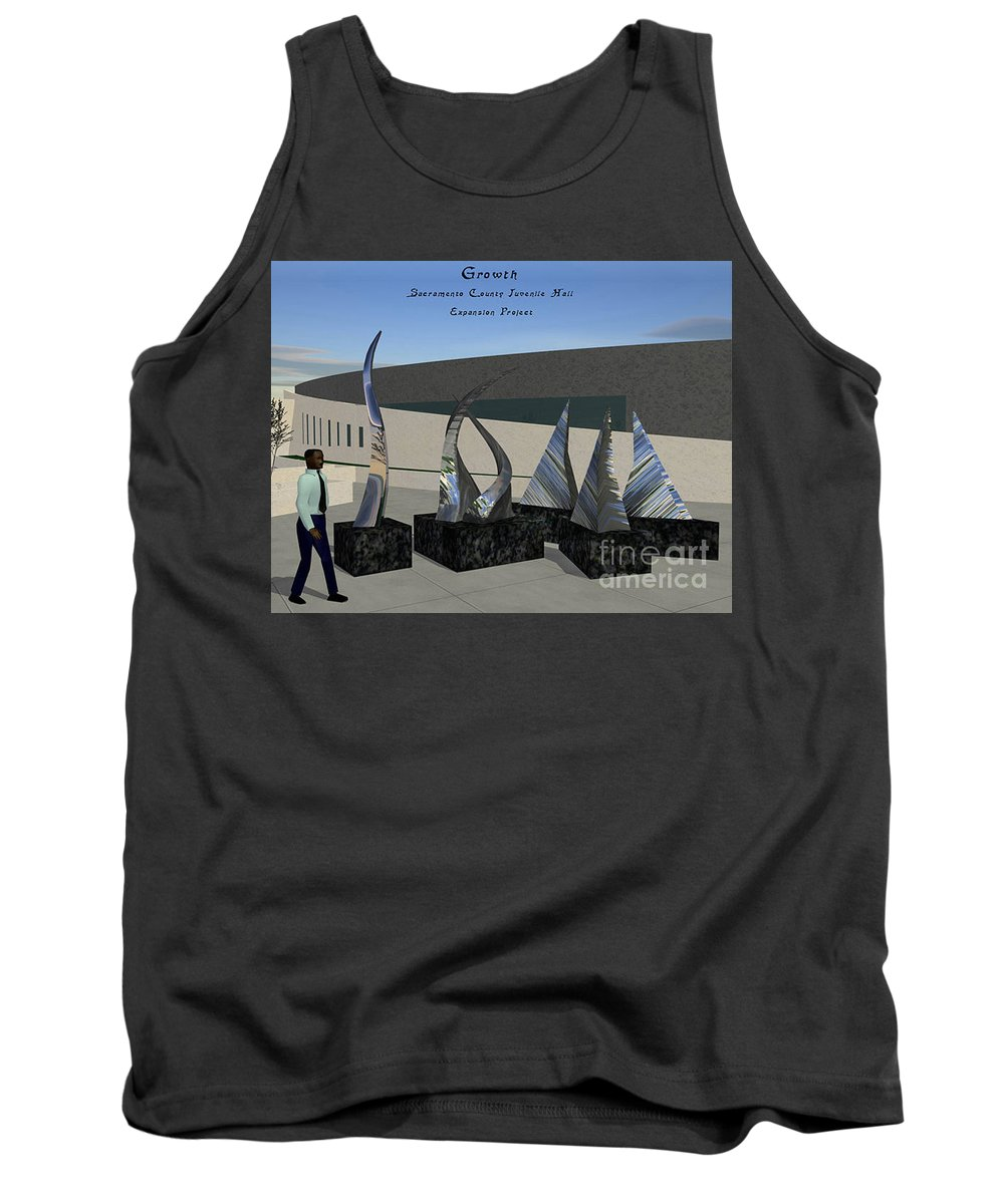 Growth Tank Top featuring the sculpture Growth by Peter Piatt