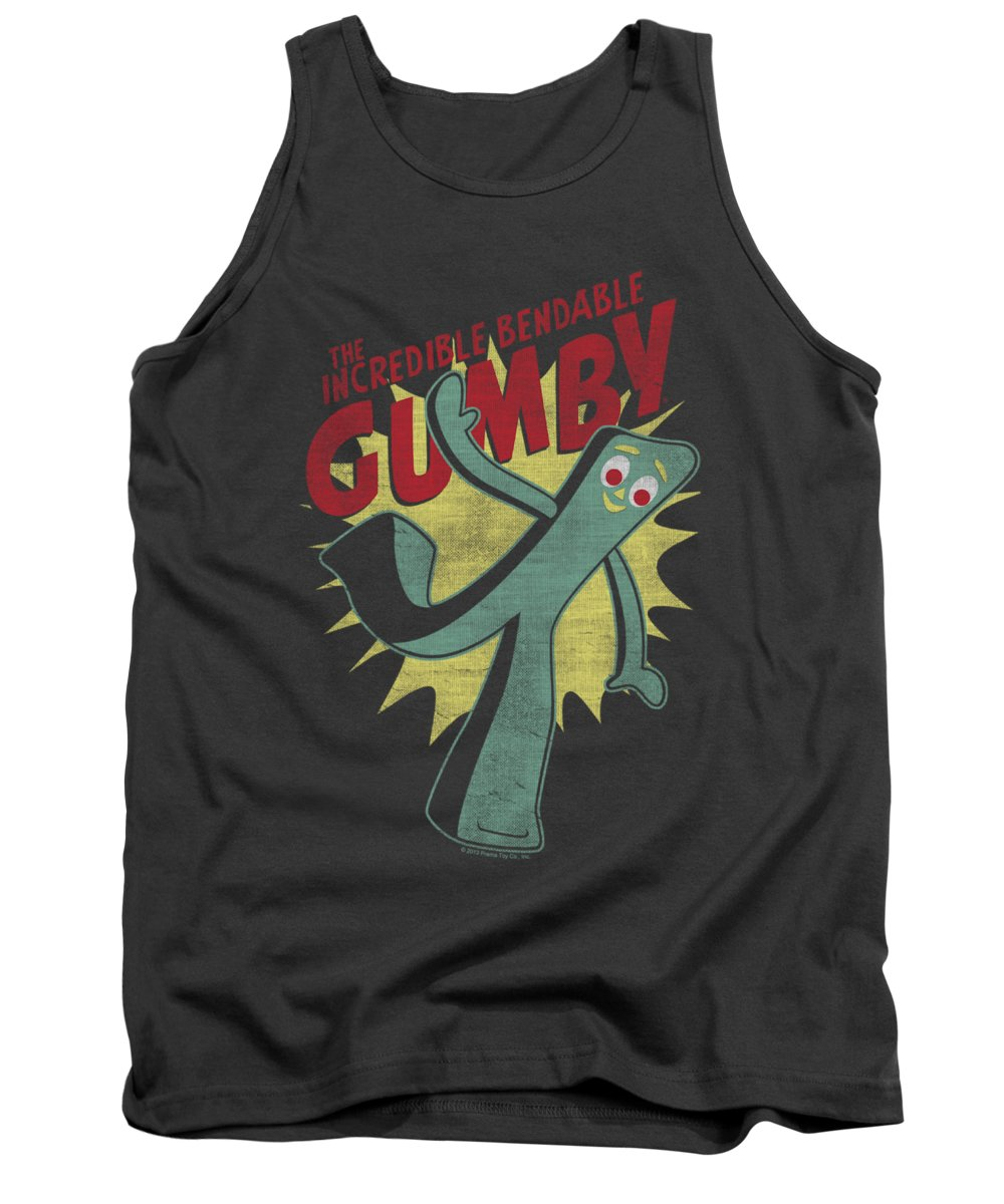 Gumby Tank Top featuring the digital art Gumby - Bendable by Brand A