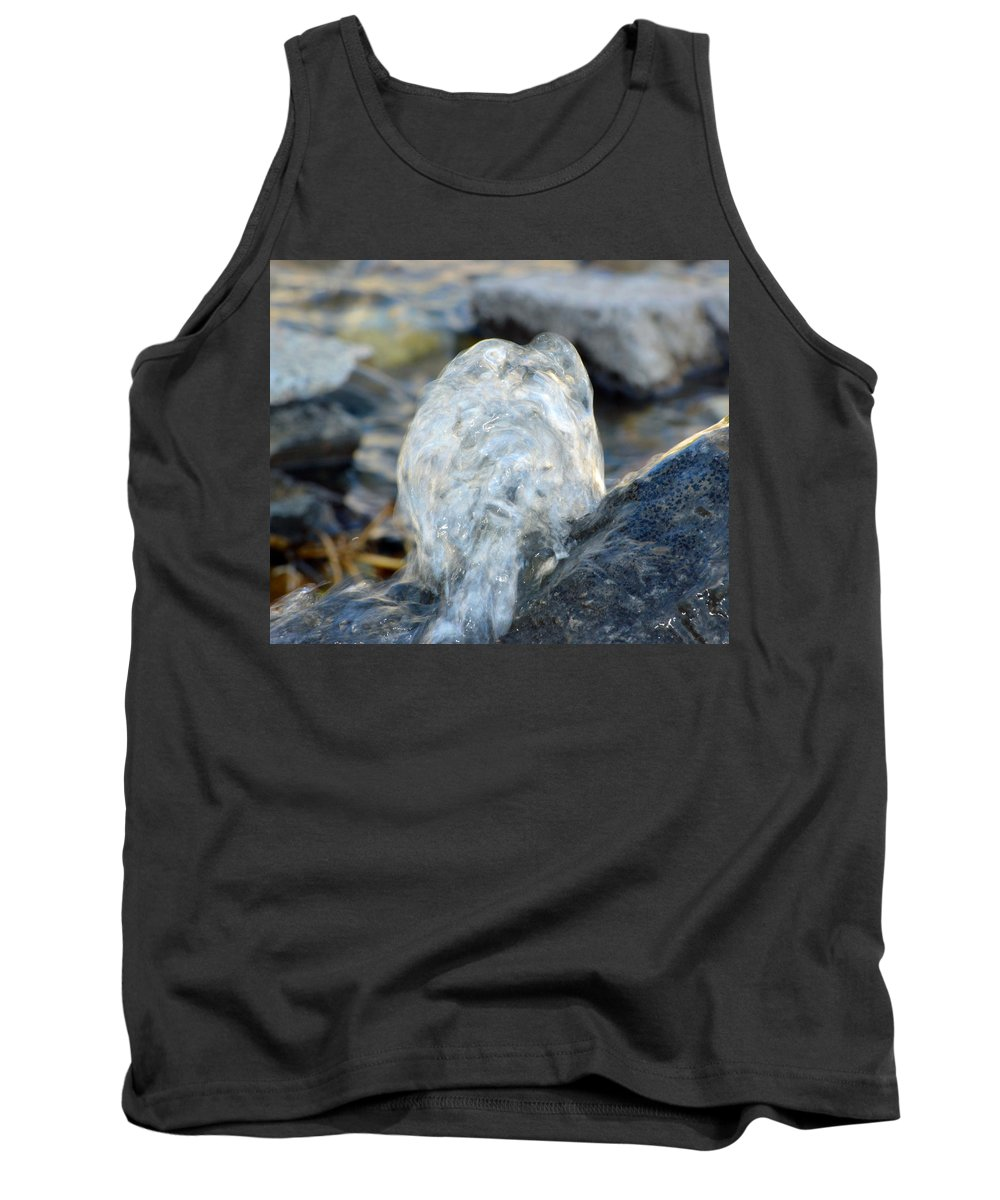Water Tank Top featuring the photograph Gurgling Water by Brent Dolliver