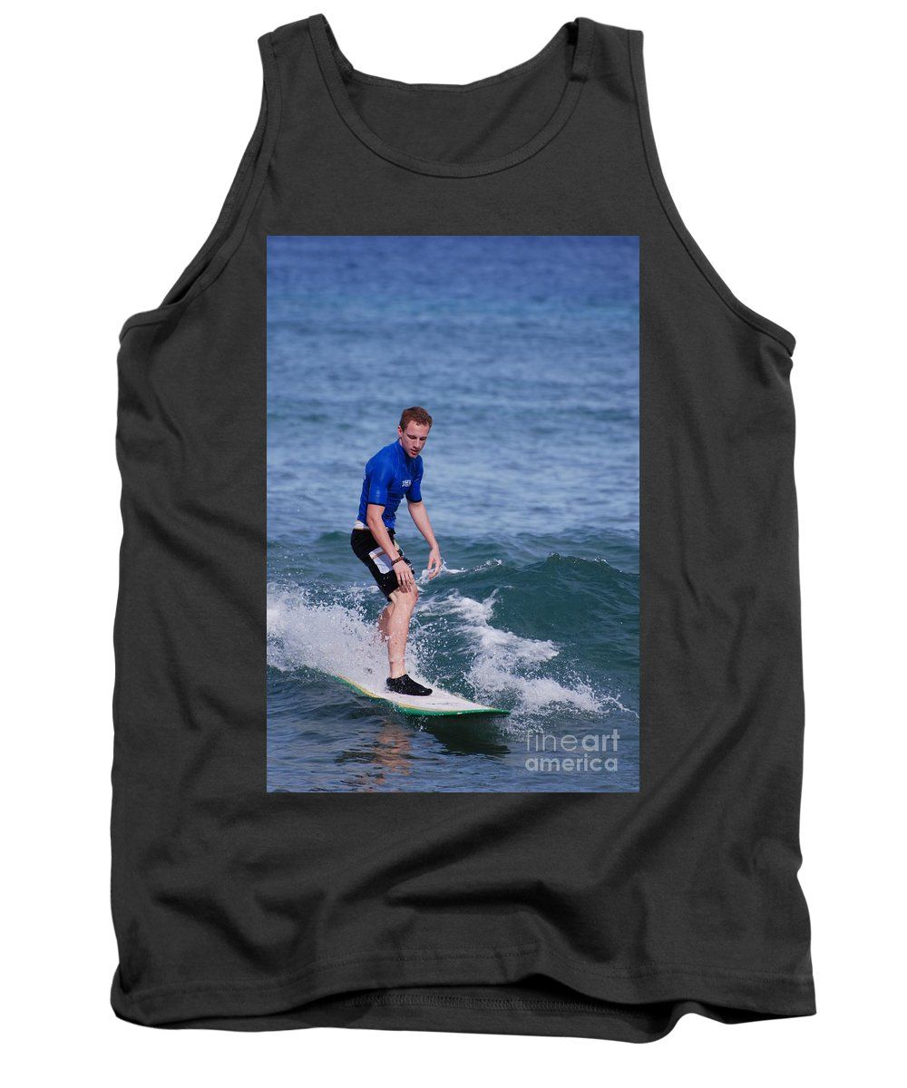 Surfer Tank Top featuring the photograph Guy Surfing by DejaVu Designs