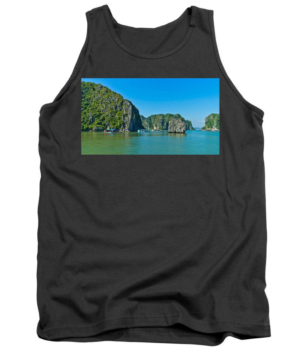 Ha Long Bay Tank Top featuring the photograph Ha Long Bay by Scott Carruthers