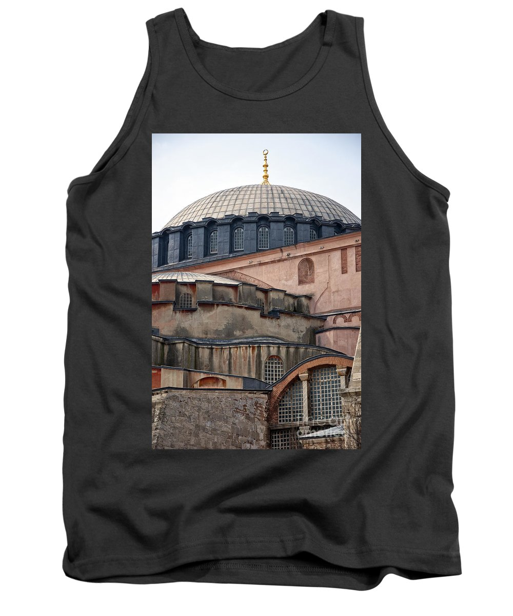 Istanbul Tank Top featuring the photograph Hagia Sofia Close Up by Antony McAulay