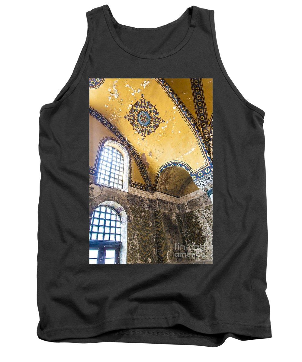 Hagia Tank Top featuring the photograph Hagia Sofia Interior 14 by Antony McAulay