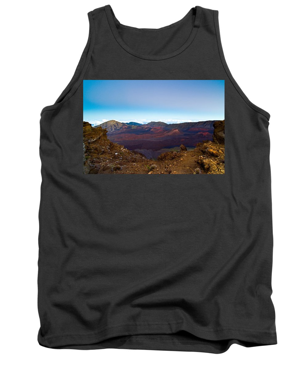 Haleakala Crater Tank Top featuring the photograph Haleakala Crater At Dusk by Nature Photographer