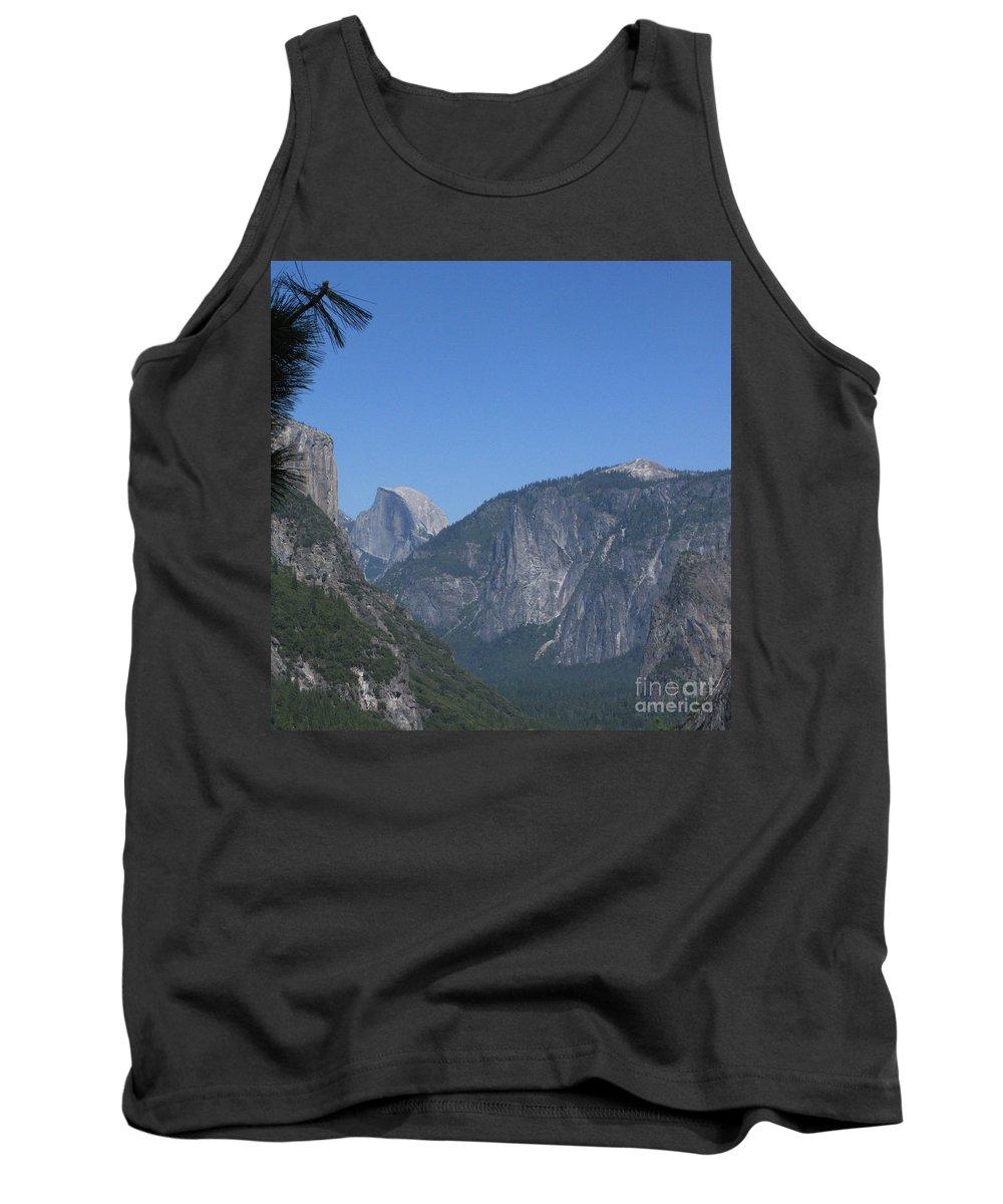 Yosemite Tank Top featuring the photograph Half Dome In Distance by Mini Arora