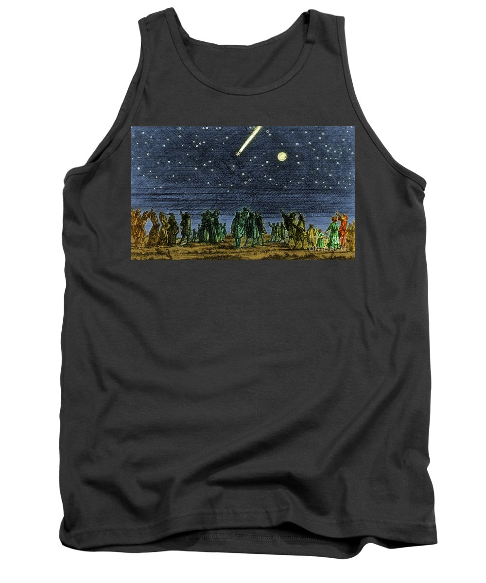 Science Tank Top featuring the photograph Halleys Comet 1682 by Science Source