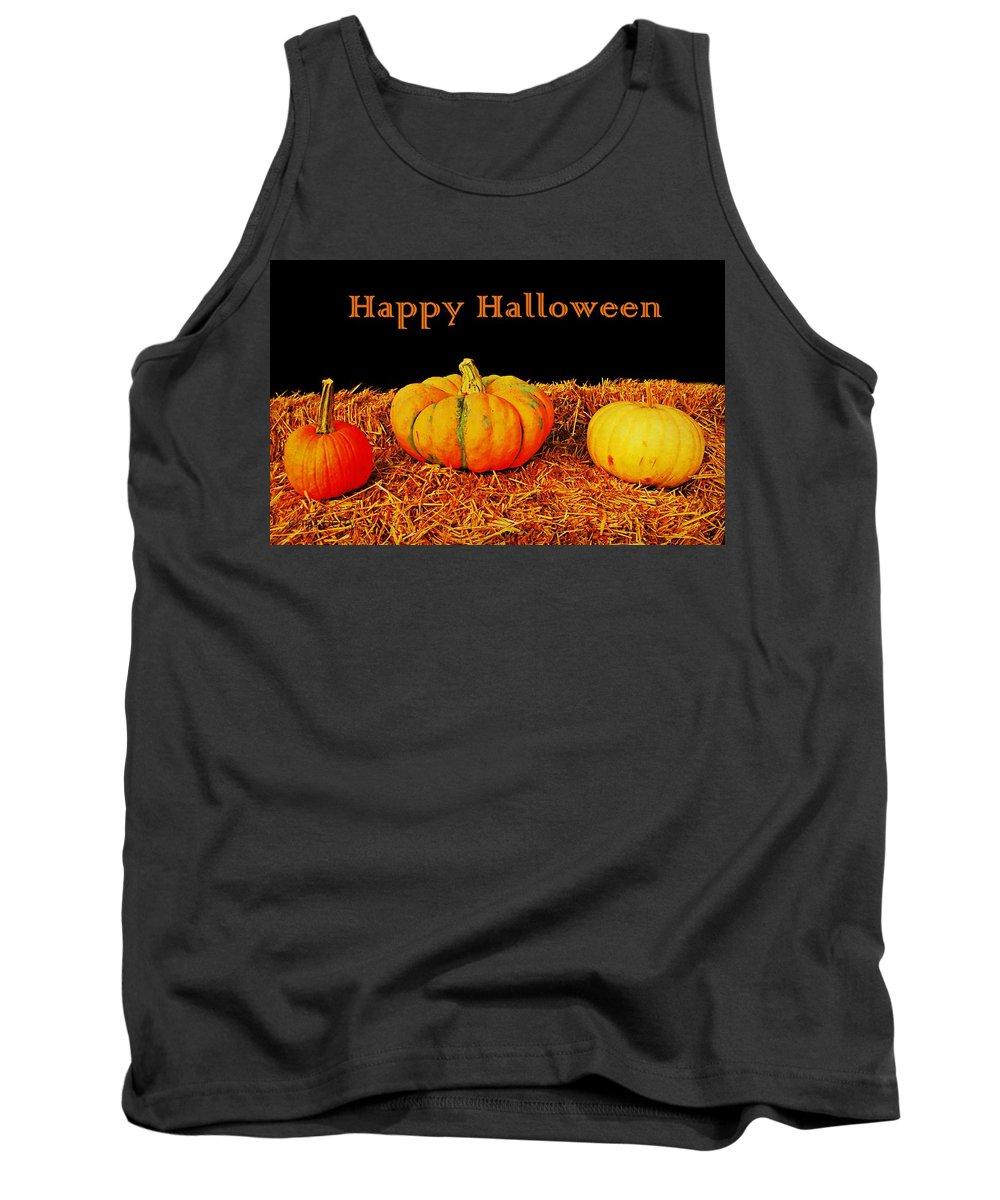 Halloween Tank Top featuring the photograph Halloween Pumpkins by Chris Berry