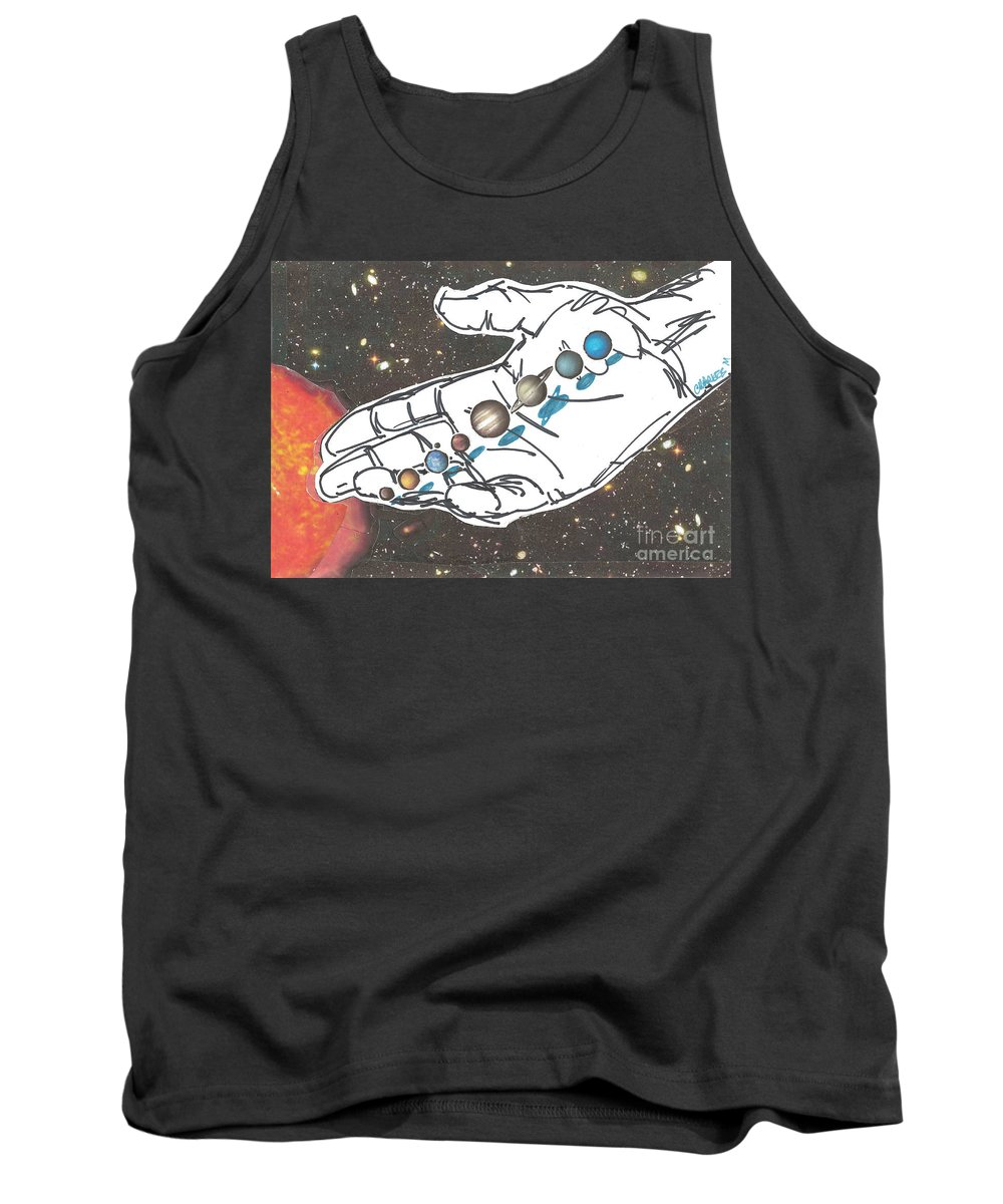 Creation Tank Top featuring the mixed media Hand Full Of Carbon by Charles M Williams