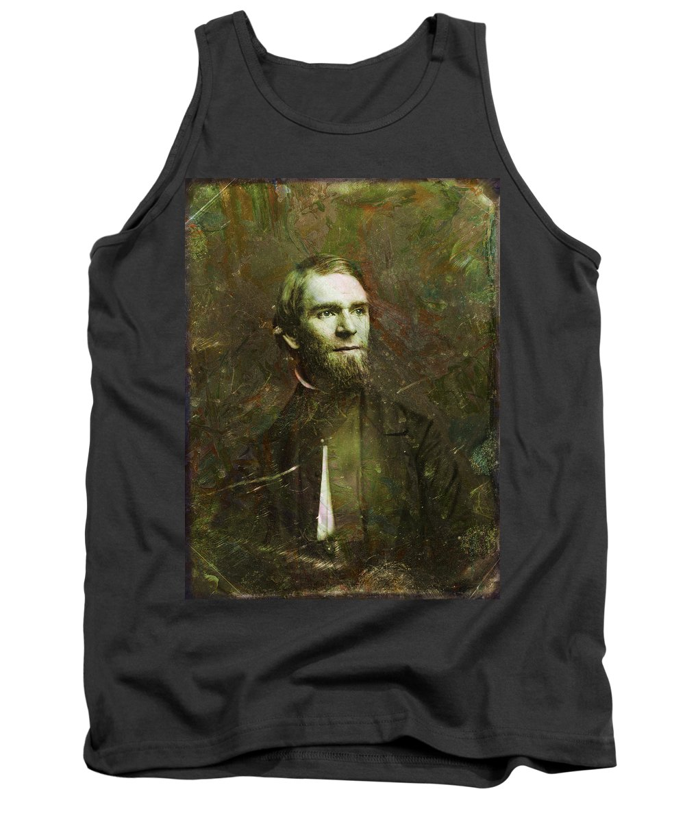 Daguerrotype Tank Top featuring the painting Handsome Fellow 2 by James W Johnson