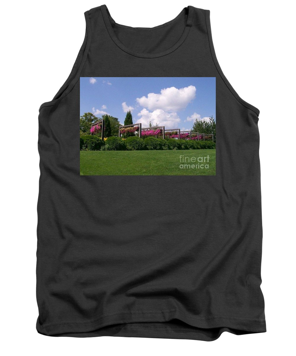 Petunia Tank Top featuring the photograph Hanging Garden by Laurie Eve Loftin