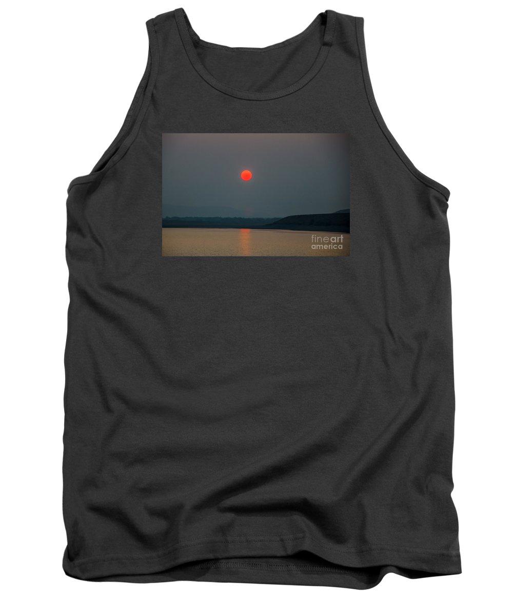 Sunset Tank Top featuring the photograph Hanging Sun by Robert Bales