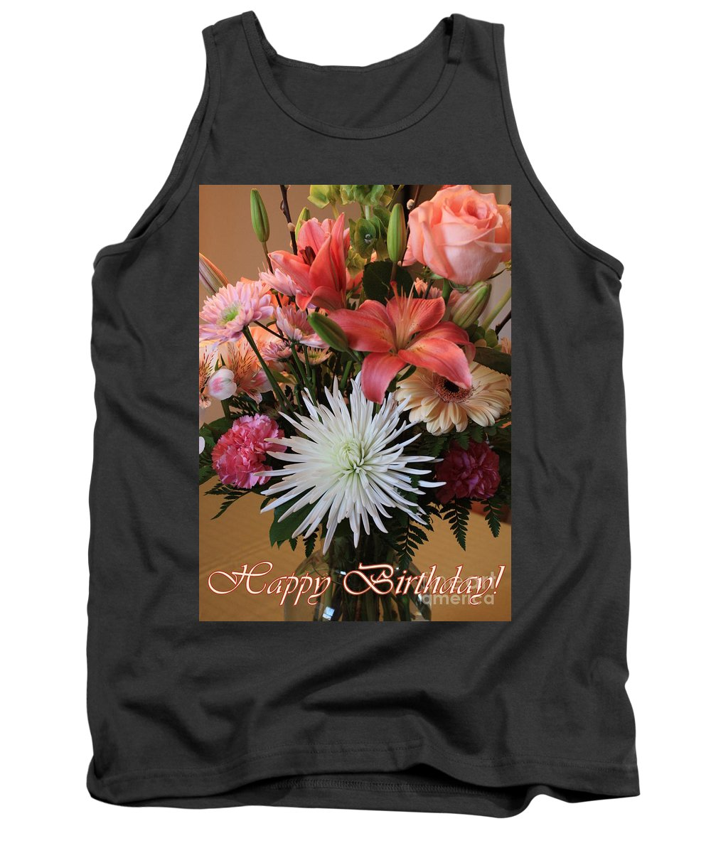 Birthday Card Tank Top featuring the photograph Happy Birthday Card by Carol Groenen