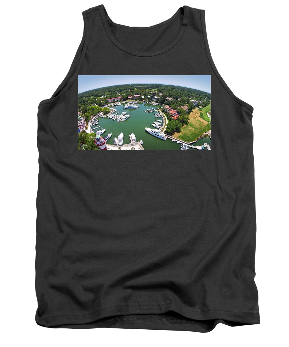 Harbor Town Tank Top featuring the photograph Harbor Town 6 In Hilton Head by Duane McCullough
