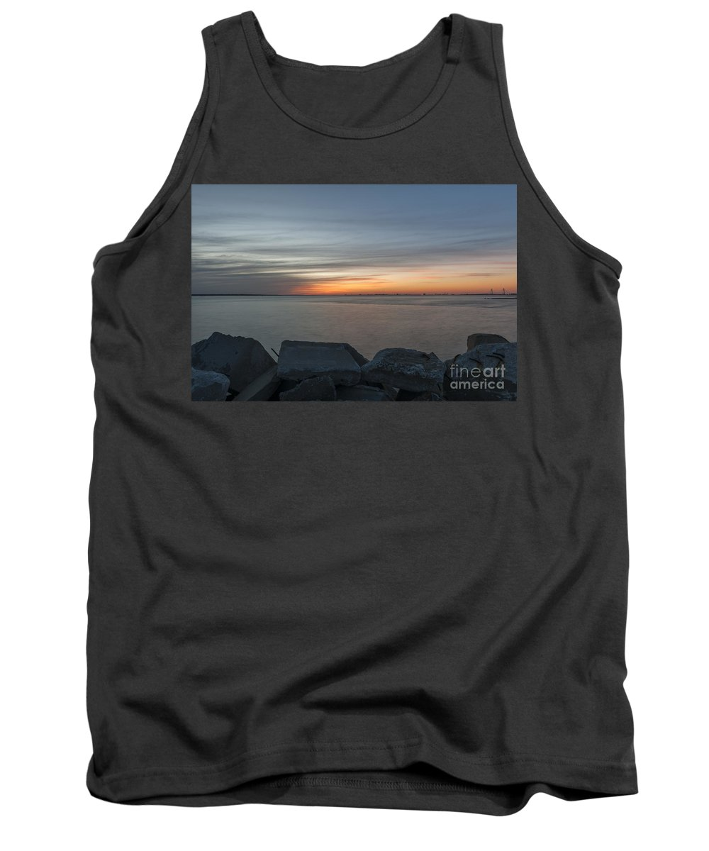 Sunset Tank Top featuring the photograph Harbor View by Dale Powell