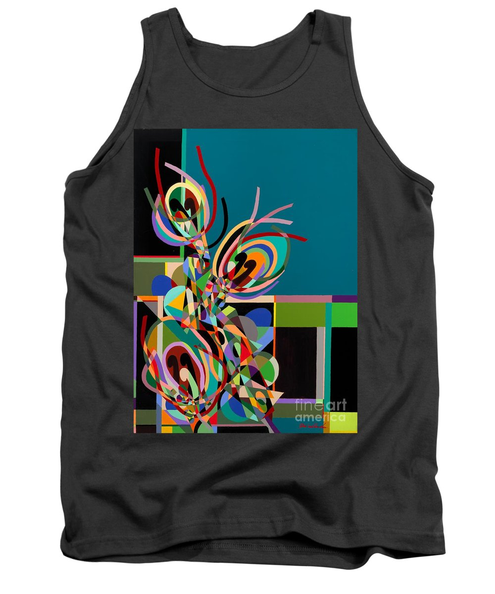 Landscape Tank Top featuring the painting Harlequin by Allan P Friedlander