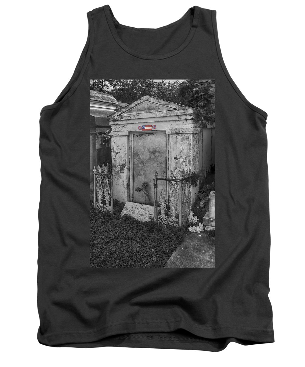 Confederate Tank Top featuring the photograph Harry T Hays Major General Lafayette Cemetery 1 Dsc05175 by Greg Kluempers