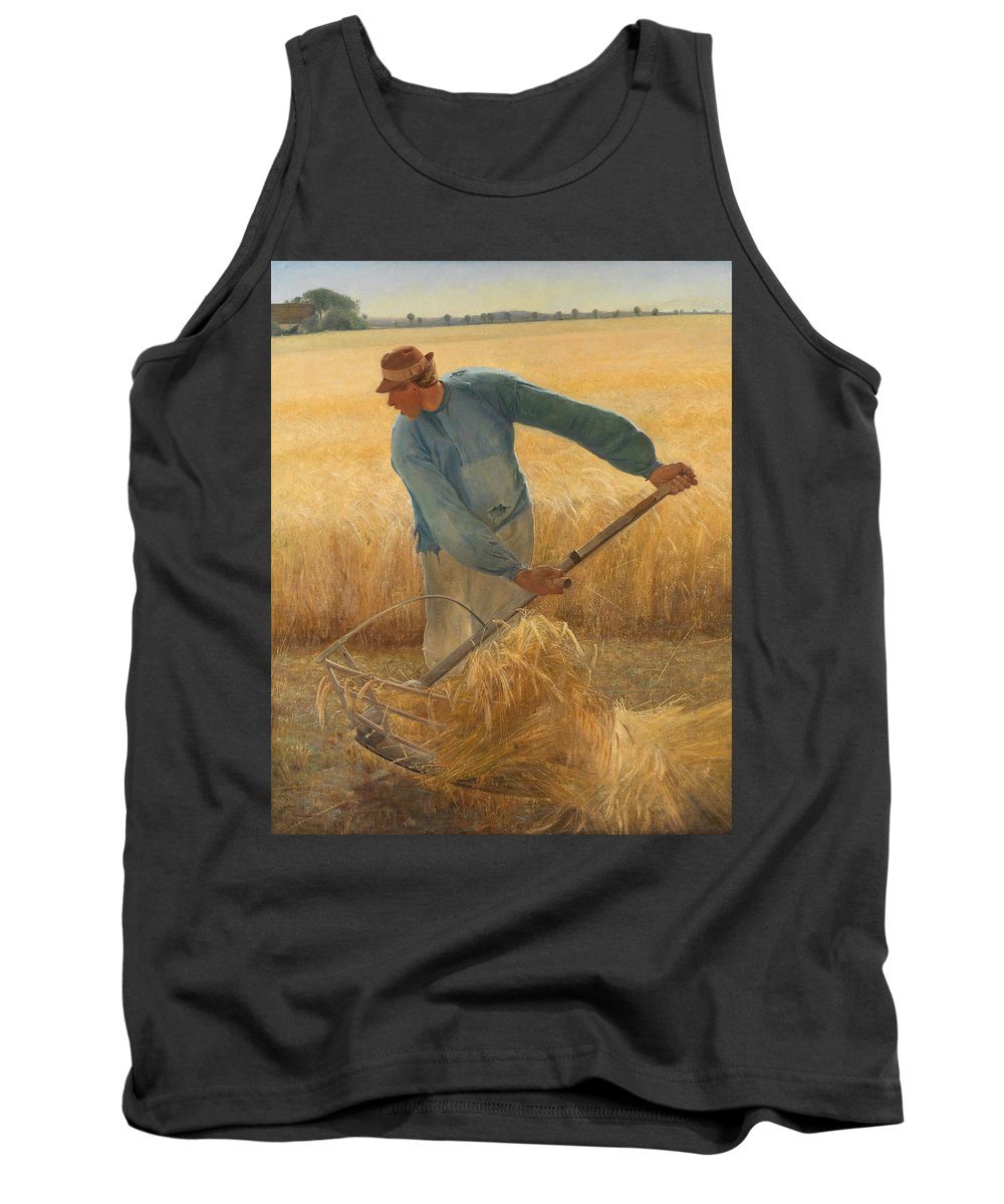 Laurits Andersen Ring Tank Top featuring the painting Harvest by Laurits Andersen Ring