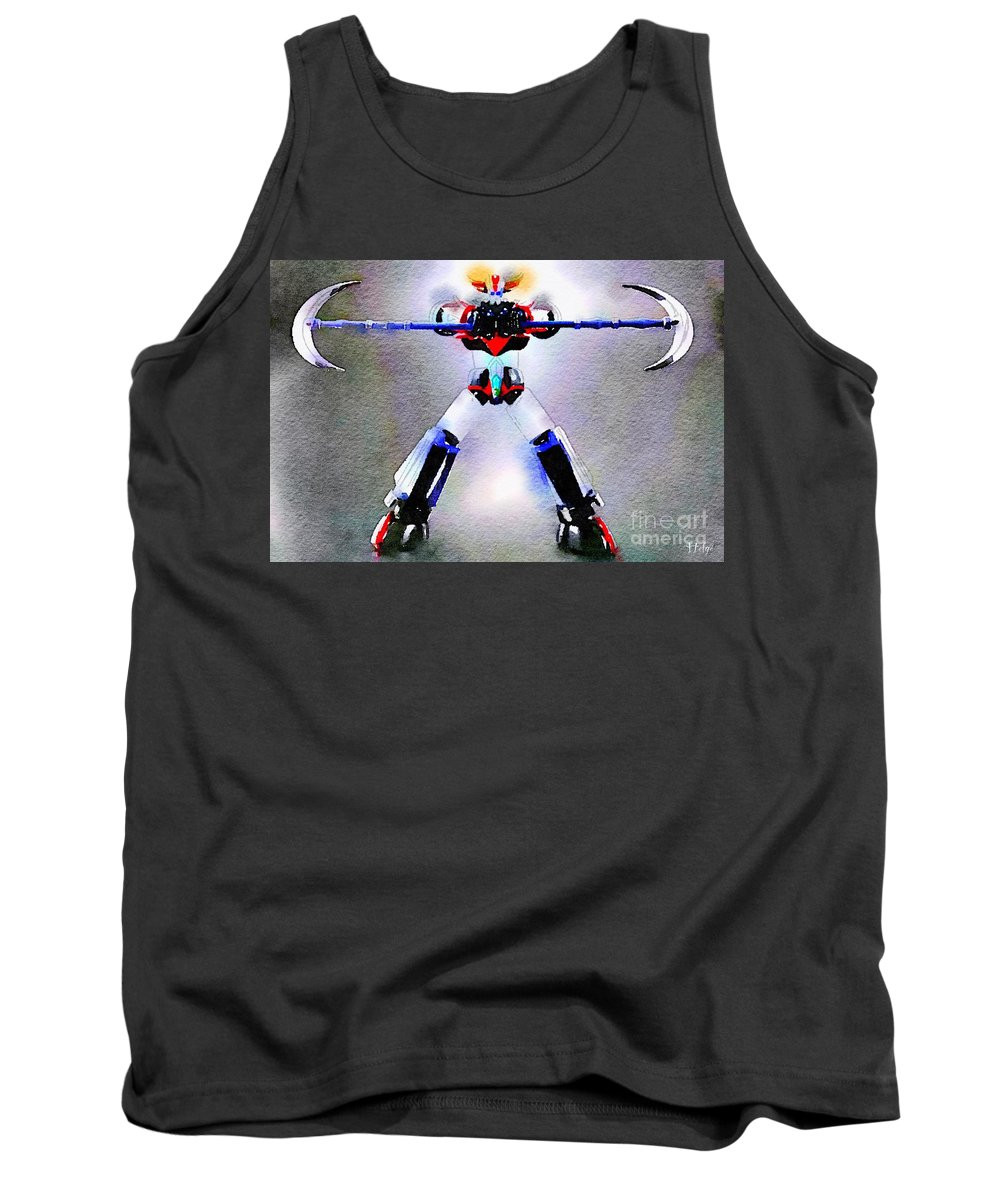 Goldorak Tank Top featuring the painting Asterohache by Helge